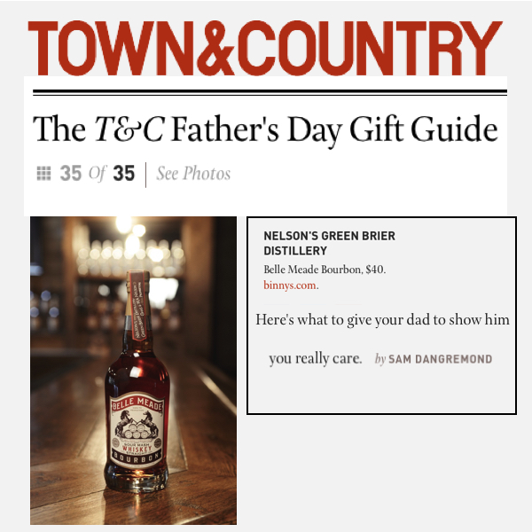 Belle Meade Bourbon Included in Town and Country's Father's Day Gift Guide