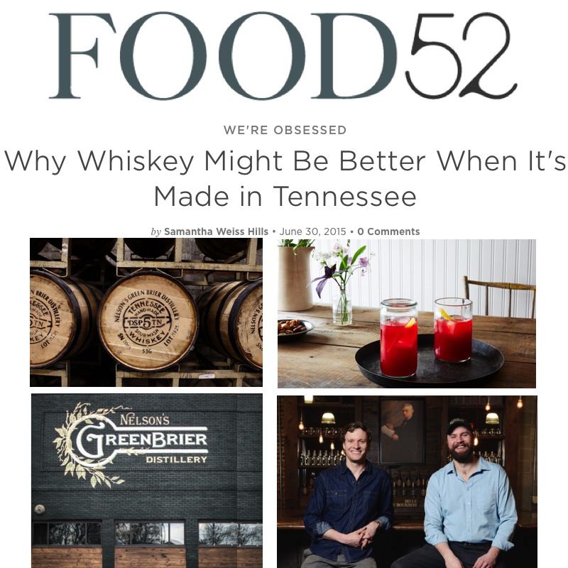Food52 Interviews Charlie and Andy Nelson of Nelson's Green Brier Distillery/Nashville, TN
