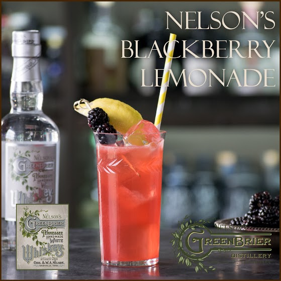 Nelson's Blackberry Lemonade: a wonderful white whiskey cocktail for summer!