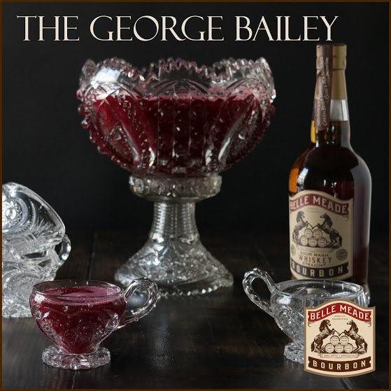 The George Bailey: a bourbon holiday punch with an exotic ingredient that will keep guests guessing...beet juice!