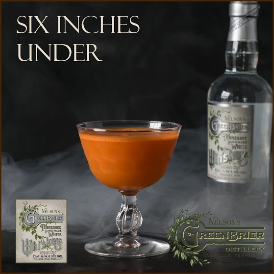 Six Inches Under: white whiskey and carrot juice combine for a superb Halloween cocktail