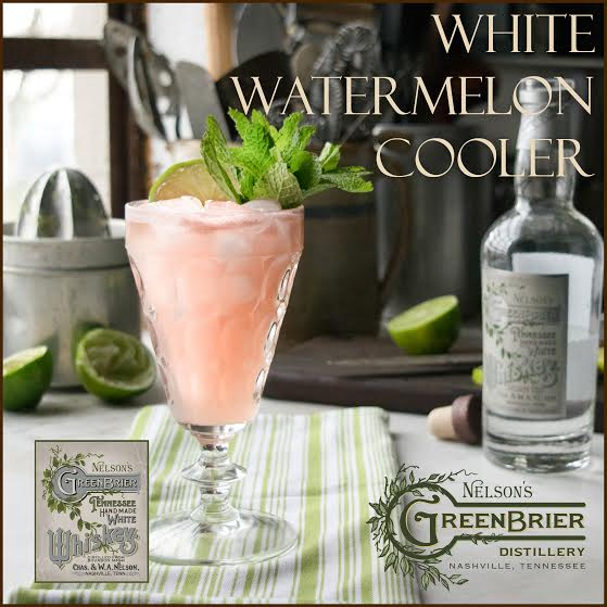 White whiskey and watermelon combine for a sublime summer cocktail