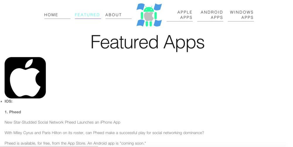 Featured App - iOS