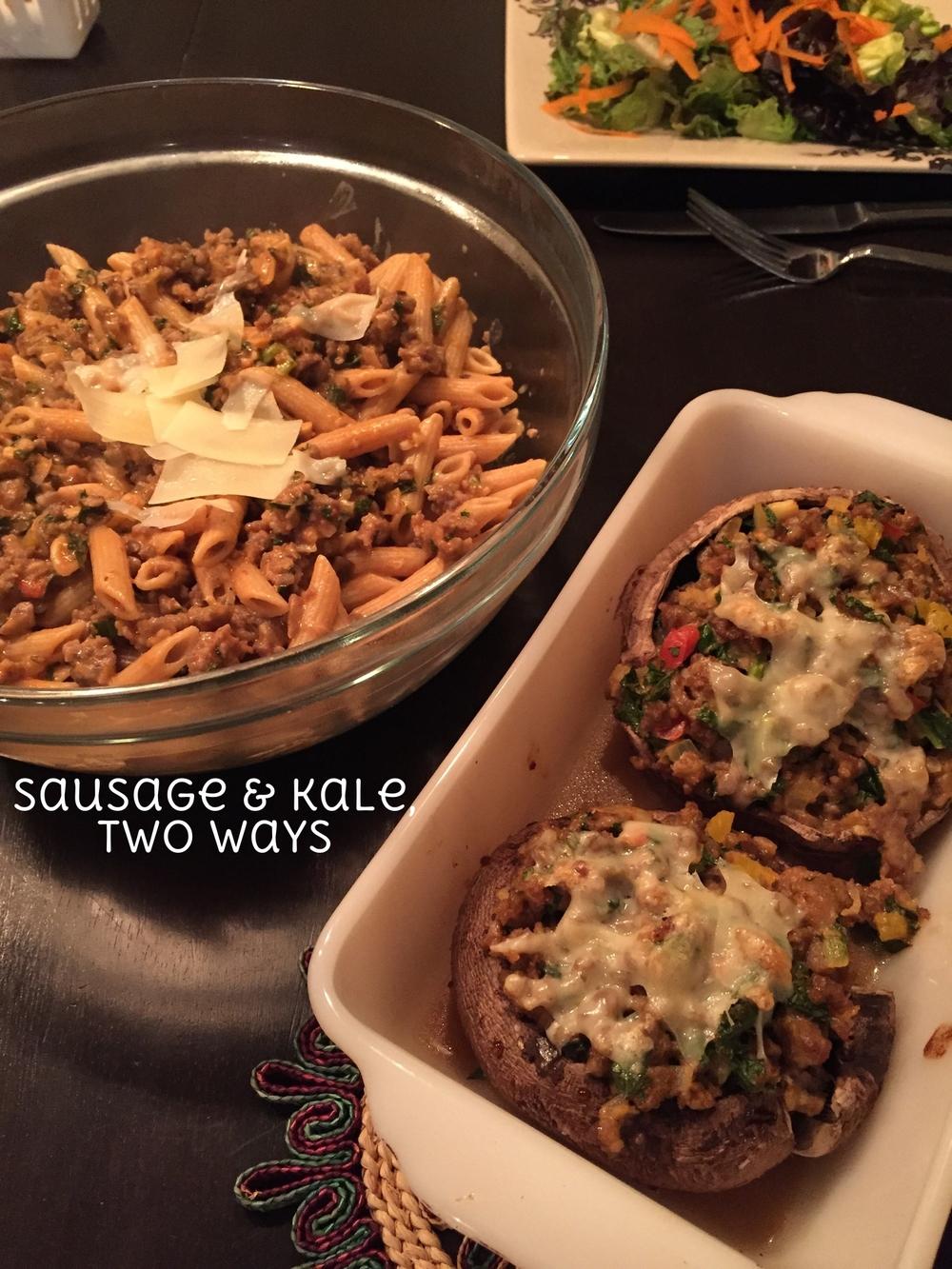 sausage&kale