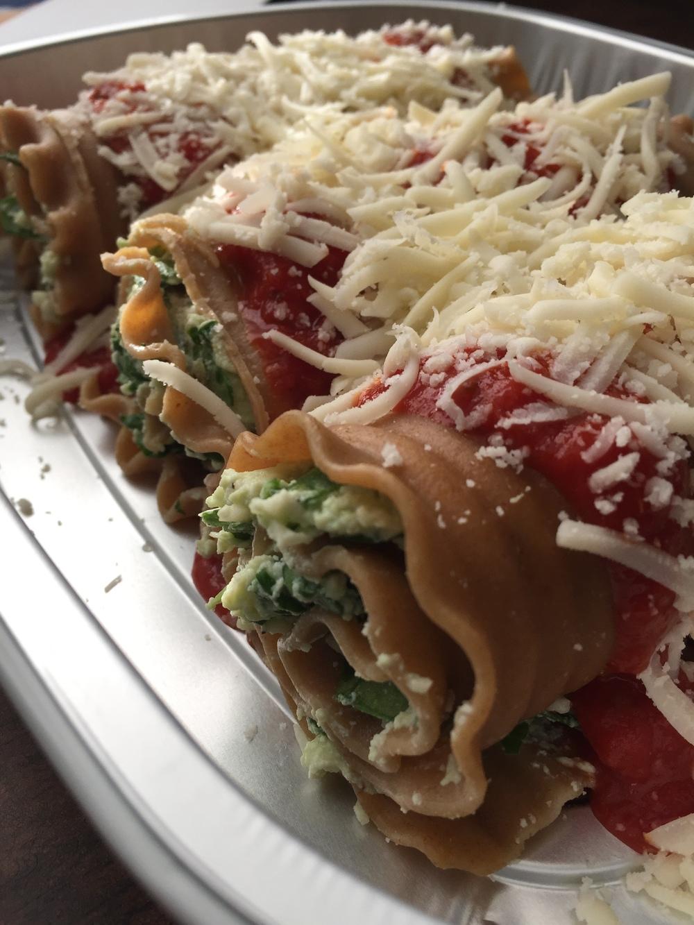 Copy of Spinach Lasagna Roll Ups