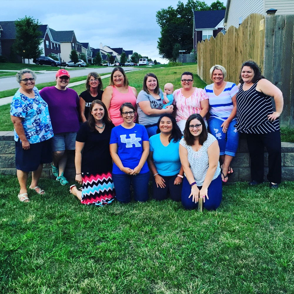 These are (some) of the women I play bunco with each month. We all take turns hosting, cooking, loving & praying for each other!