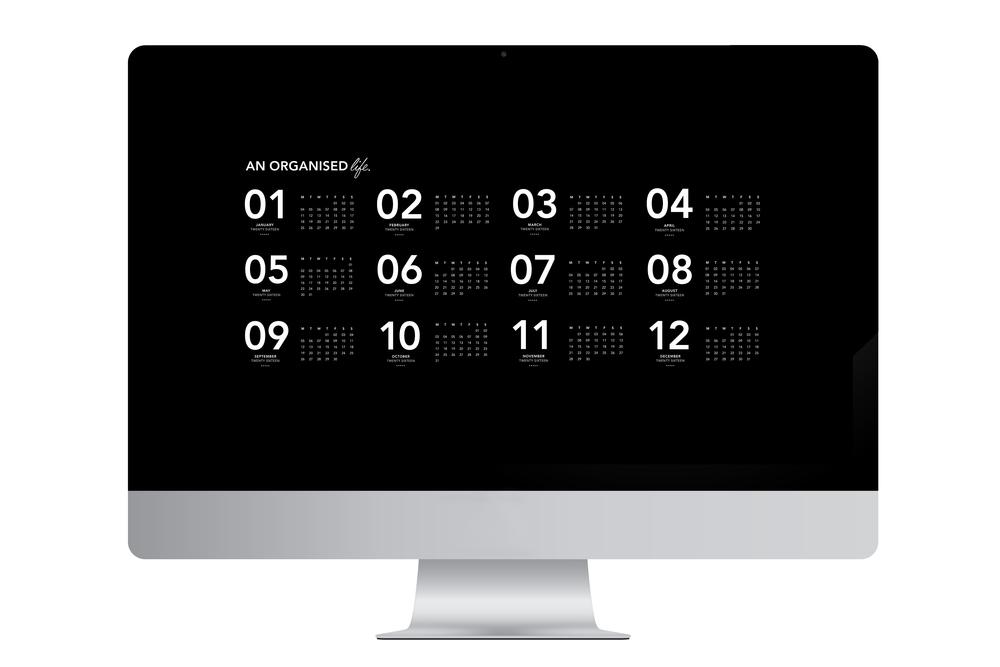 An Organised Life Downloadable 2016 Calendar_1