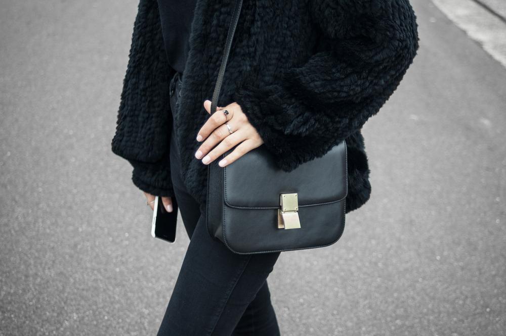 Wearing Charlie Horse Bag & Mini Pom Pom, Meadowlark Ring,H Brand Jacket, Neuw Denim, Rag & Bone Tee