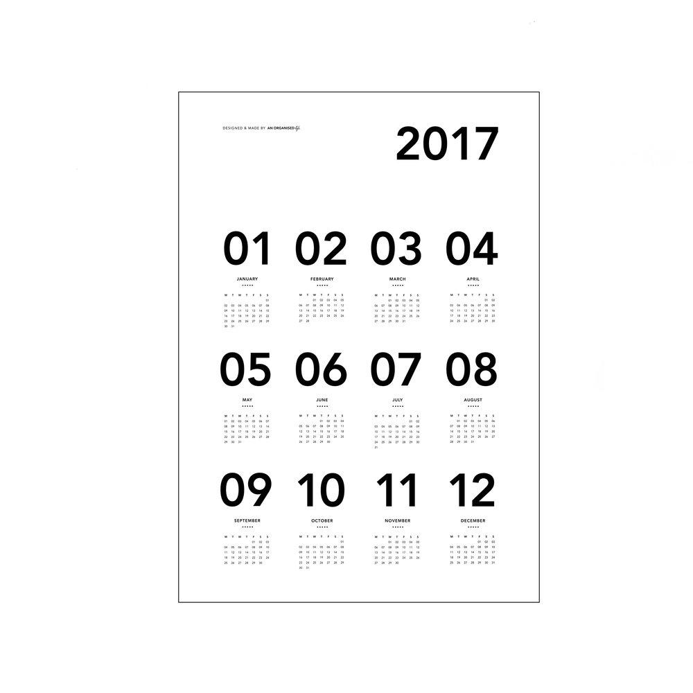 An Organised Life Calendar