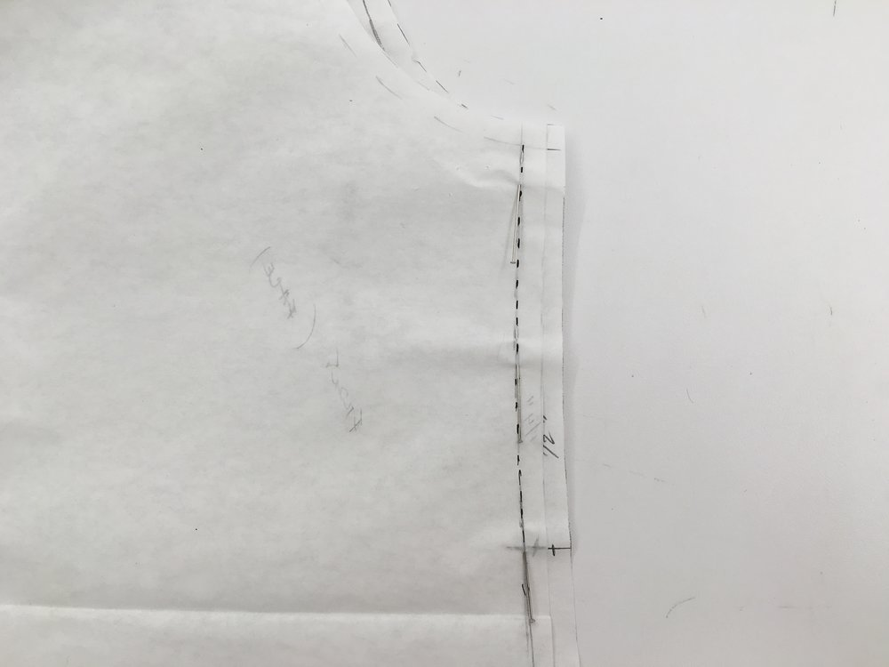 Putting face to face together and stitching at seam lines (where the pins are)