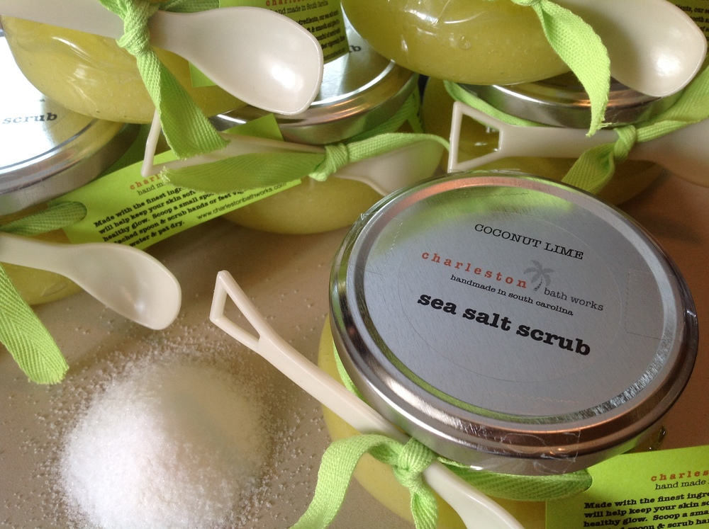 sea salt scrub --- coconut lime