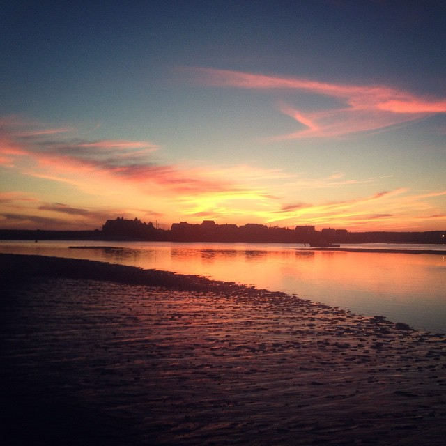 Goddamn Maine! Look at it! #sunset #maine #flyfishing #stunning