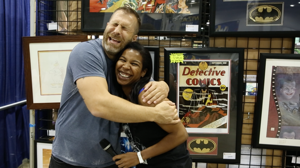 A photo of Adam and I looking ridiculous at Wizard World: Chicago 2015