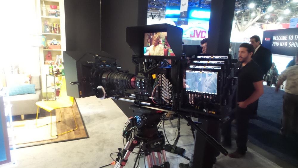 Canon displays an 8K camera
