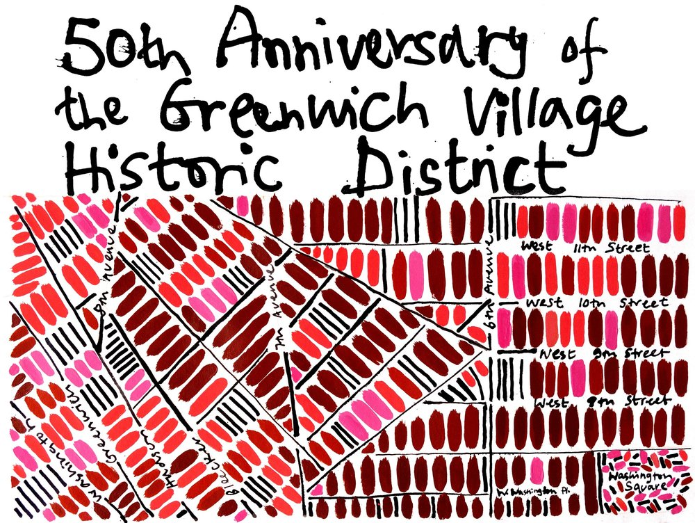 """- We begin this year of programming with a multimedia panel, telling the story of how the district was won. What were the Village preservation efforts that directly led to the designation? Originally, the city had proposed a dozen little districts but came to do the """"one big one"""" - how did that come to be? Why wasn't the district extended all the way west to the Hudson River, as Jane Jacobs wanted? For information and registration click here"""