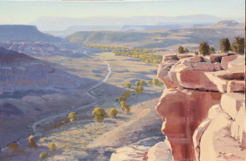 Grafton Flats and Mesa Top, 20x30, Oil on Linen, Illume Gallery