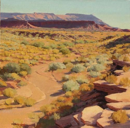 Golden Autumn on the Flats, 24x24, Oil on Linen, Knowlton Gallery