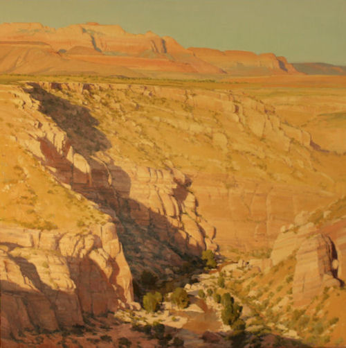 Canyon On the Flats, 39x41, Oil on Linen, Kate Starling Fine Art