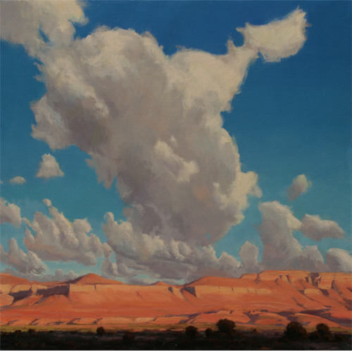 Approach to Canyonlands, 30 x 30, Del Monte Fine Art