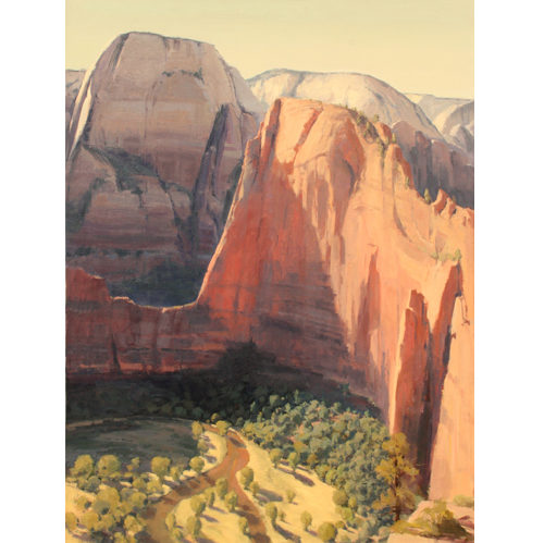 Angel's Landing, 48x36, Oil on Linen, LaFave Gallery