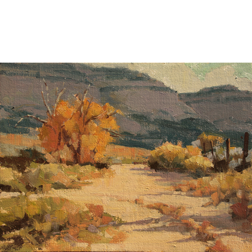 Cove Road Autumn, 9 x 12, Oil on Linen Panel