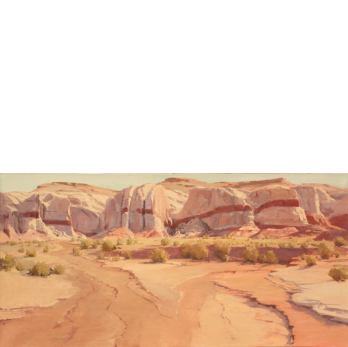 Red Stripe Cliffs, 24 x 48, Oil on Linen, LaFave Gallery