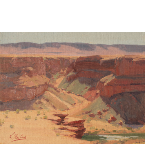 Marble Canyon, 11 x 14, Oil on Linen Panel, Del Monte Fine Art