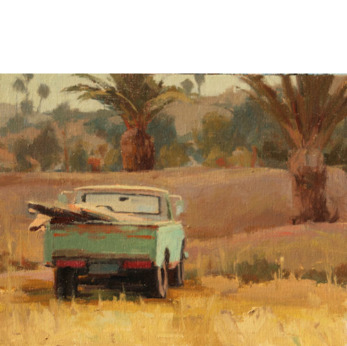 Datsun Pick Up, 11 x 14, Oil on Line Panel, SOLD