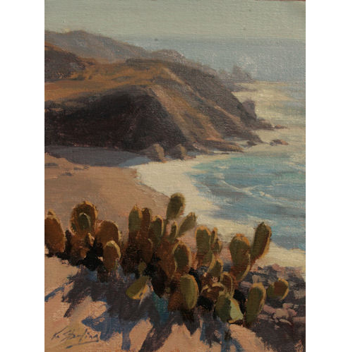 Cactus Overlook Catalina Island, 12 x 9, Oil on Linen,  Kate Starling