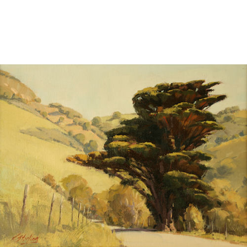 Country Road, 14 x 18, Oil on Linen Panel, Del Monte Fine Art