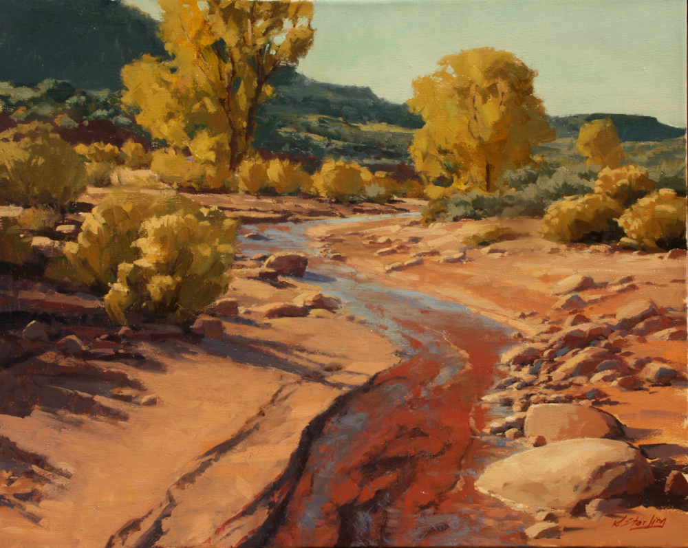 Rocky Wash,  24x30,  Oil on Linen,  LaFave Gallery
