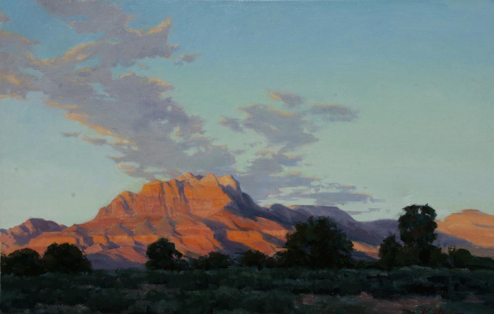 Kinesava Sunset,  20x30, Oil on Linen,  LaFave Gallery