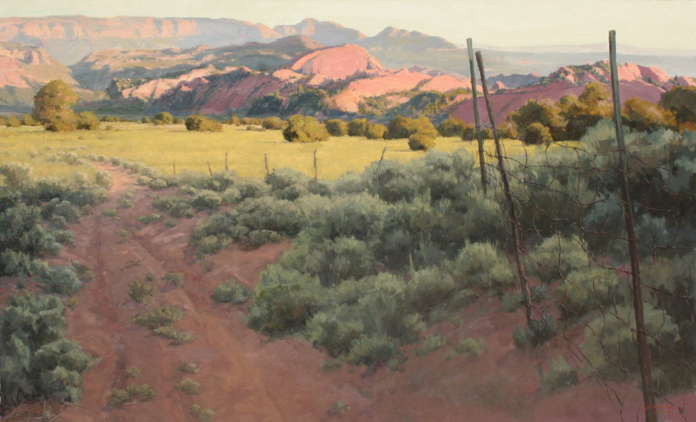Road To Lee Valley, 72x44, Oil on Linen, LaFave Gallery
