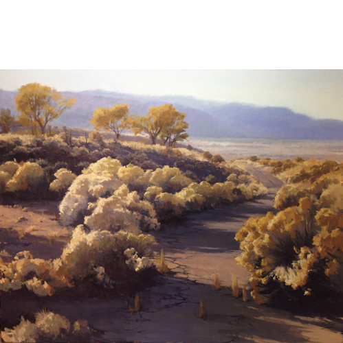 "Rabbit Brush, 24"" x 30"", Oil on Linen"
