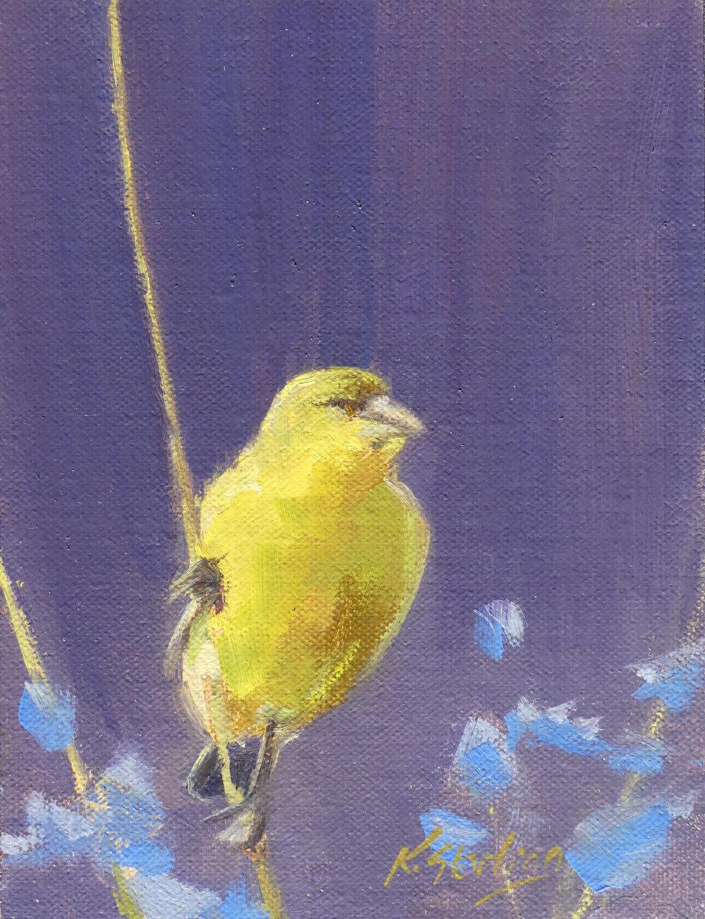 Gold Finch 6x8
