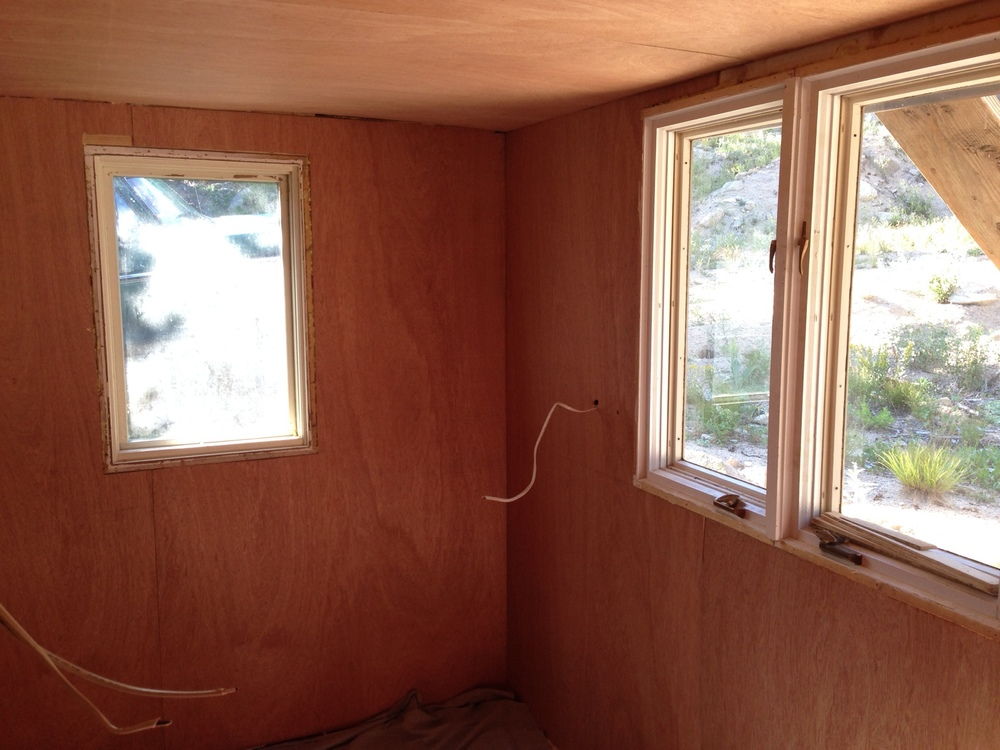 New walls! New windows! New insulation! New electrical! The windows were a game changer (we forgot to take a before picture, but trust us. They were the WORST).