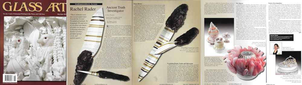 Glass Art, Rachel Rader: Ancient Truth Investigator by Shawn Waggoner, May/ June 2015
