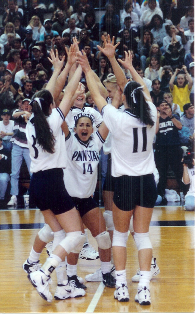 1996 Penn State defeats Michigan State to win the Big Ten Championship -  Read   Burdis Plays Big on Court - PSU Daily Collegian  article here.