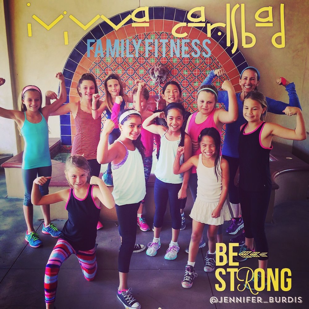 This one hour EduNinja Fit class incorporates yoga, bodyweight exercise stations, running stairs, and core exercises for parents and daughters alike.