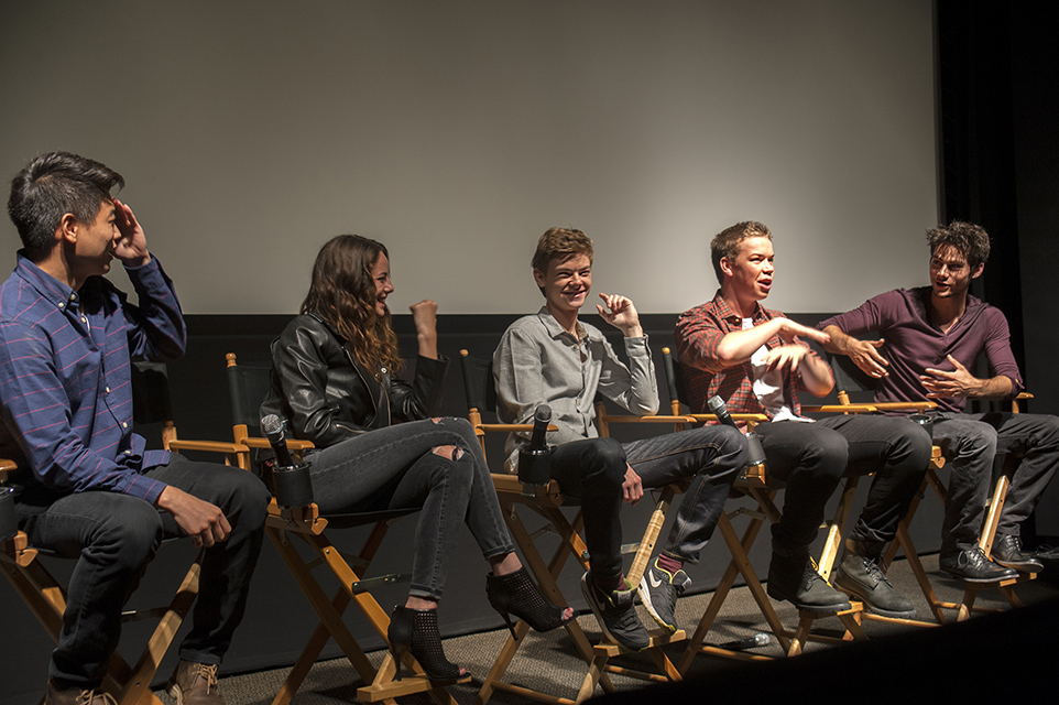 Photo of Cast during Q&A - courtesy of Katie Ferguson @pocketofgreen on twitter