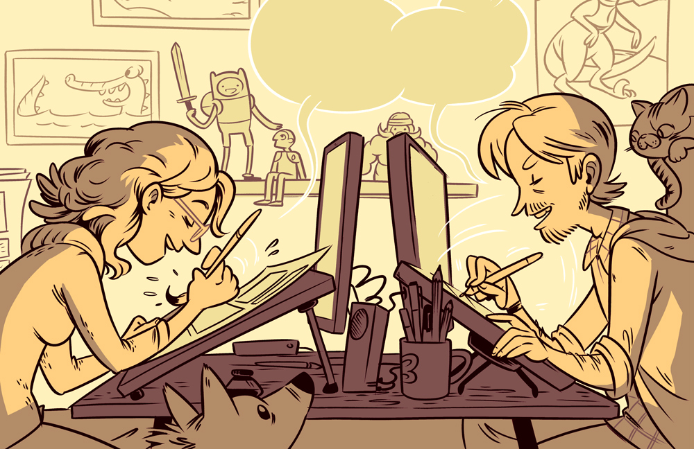 Shelli's & Braden's work illustration
