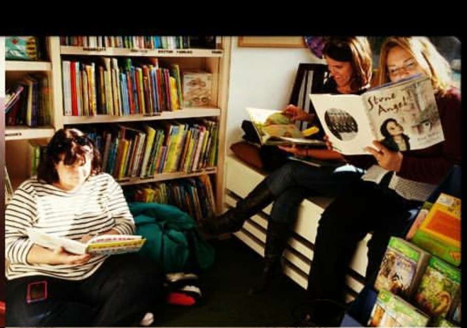 Reading at Bank Street books with Susan Dee and JoEllen McCarthy