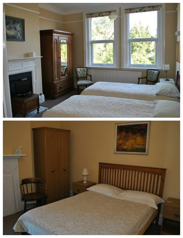 Above, the room that my sister and I shared. Below, the room my parents shared. Taken from the  Parkside Bed and Breakfast website .