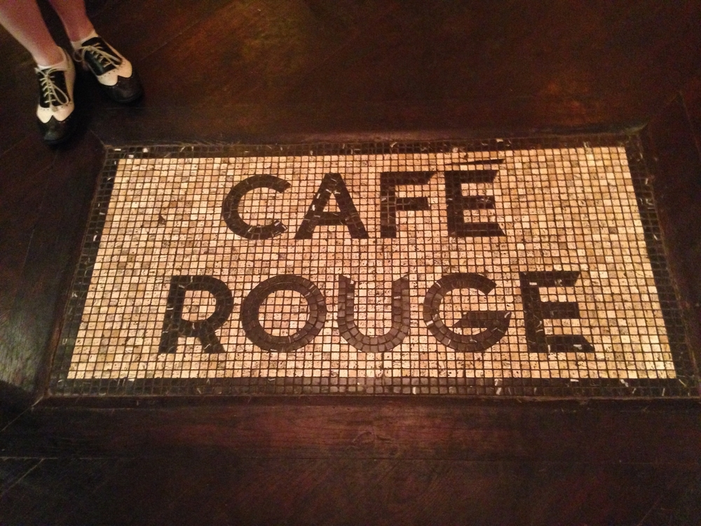The Café Rouge mosaic, with a cameo from my favorite shoes.