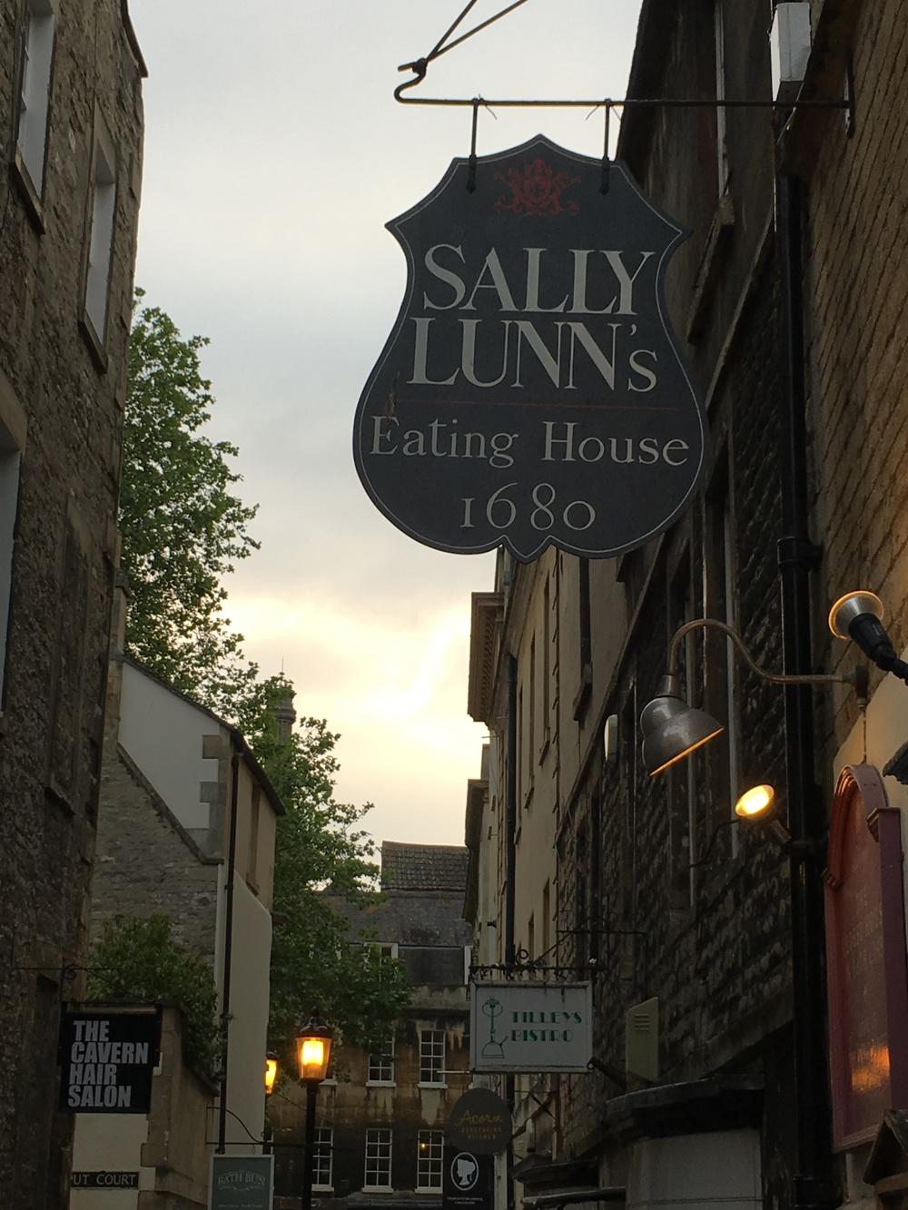 Sally Lunn signage.