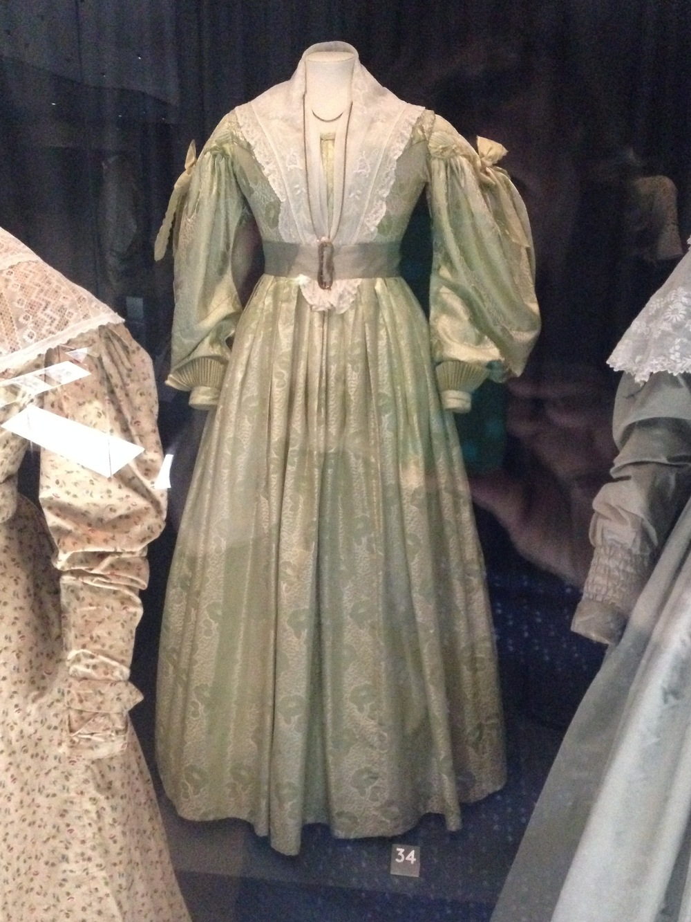 A 19th-century dress (post-regency, not sure when).