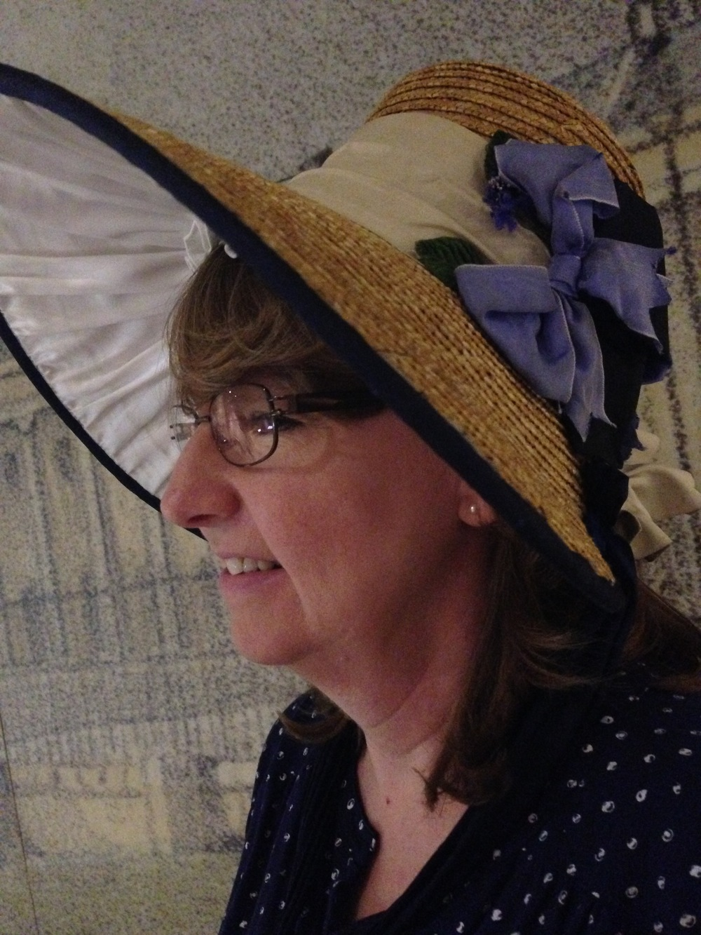 My mother, with a bonnet.
