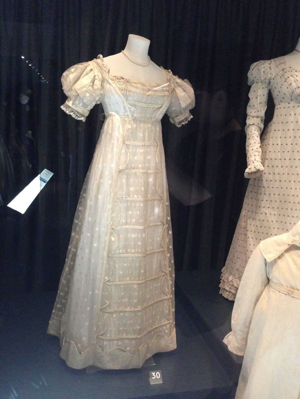 Another lovely Regency dress - this one is a formal dress, most likely a wedding dress.