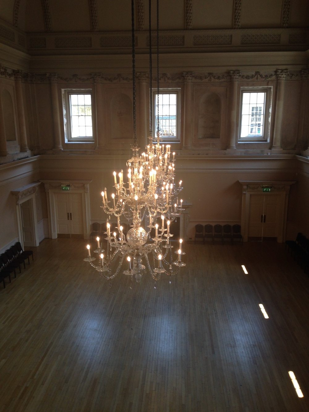 And a shot with the floor, to provide a better sense of how huge the Assembly Rooms were.