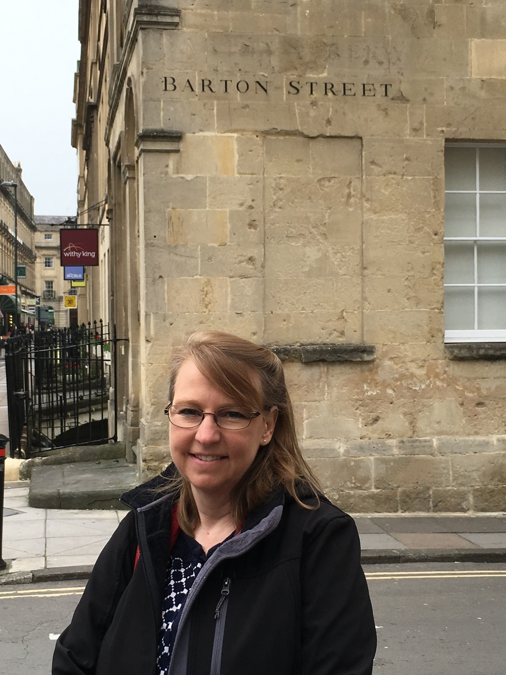Apparently there was a stonemason with the last name of Barton in Bath, who built a lot of buildings. My mother's maiden name is Barton, so she decided to take a picture with every Barton sign we came across.